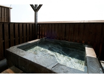 A客室露天風呂
