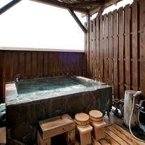 【部屋】A 露天風呂付客室の風呂