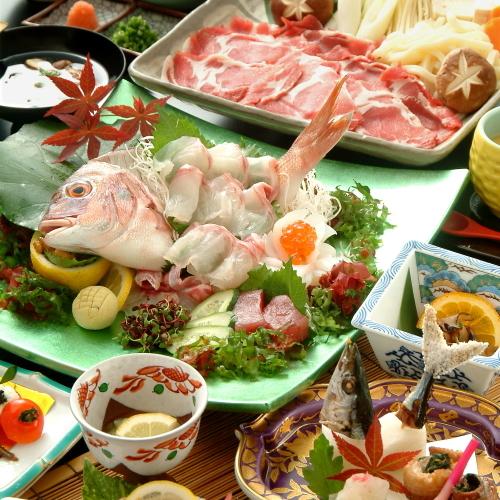 薩摩会席料理となっております。