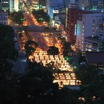 約300発もの打上花火も見物、照国神社の六月灯