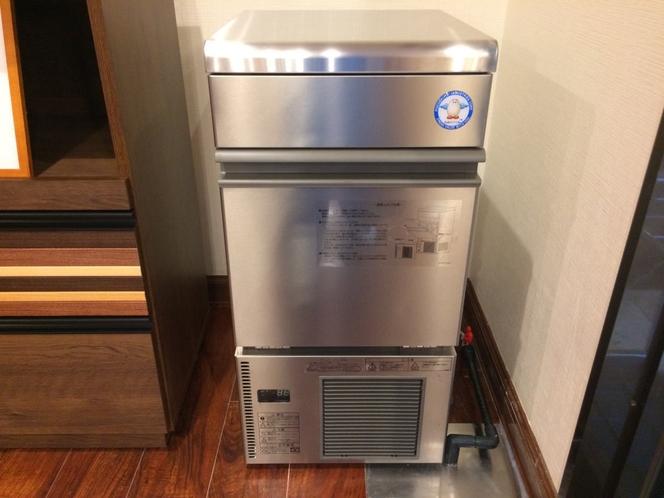 無料製氷機 1階ラウンジに設置しています。