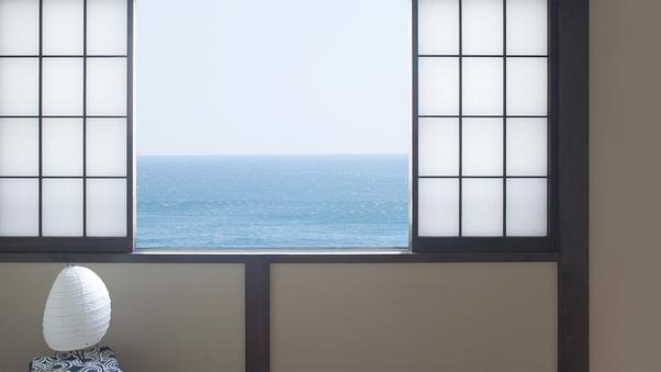 海の見える和室(一人旅)