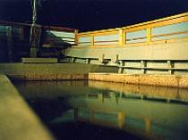 船の露天風呂 船首