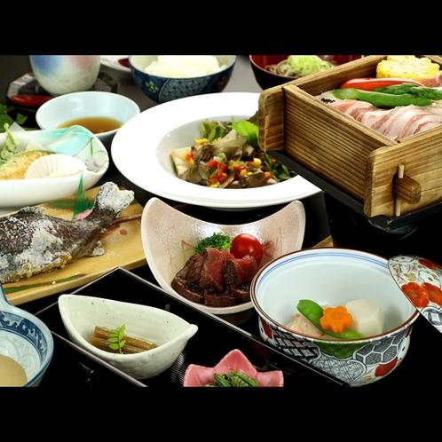 【スタンダード】メイン料理以外は日替り★きょうはローストビーフやマスの塩焼き