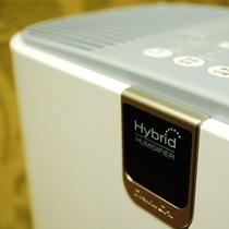 全ての階にハイブリッド式最新型加湿器を設置。ホテル特有の乾燥を防ぎます。