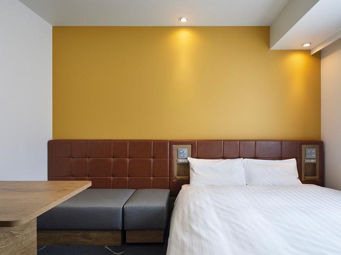 贅沢な大きさの160cm幅クイーンベッド