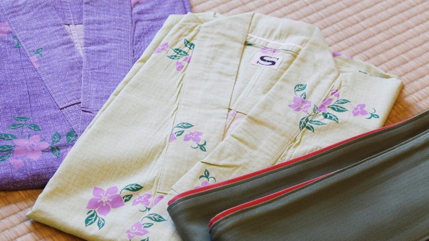 【山桜の間】【竜胆の間】【萩の間】【桔梗の間】各お部屋専用の浴衣をご用意いたします