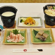 *お食事一例/旬の食材を使用したお料理をお楽しみください。