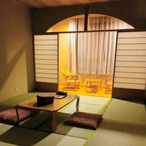 *客室一例/落ち着いた雰囲気の和室のお部屋でゆっくりとお過ごしください。