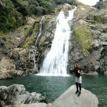 【大川の滝】88メートルの落差を豪快に流れ落ちます!