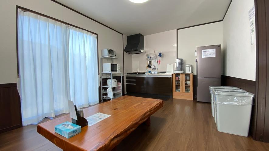 「新館」共用リビング・キッチン
