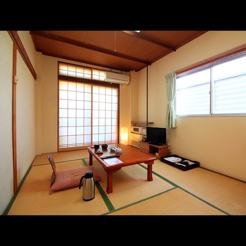 【客室7畳】ビジネス利用やひとり旅に人気のある7畳+踏込の客室