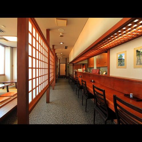 【食事処】カウンター・小上がり・テーブル席・個室と多種のニーズに対応しております