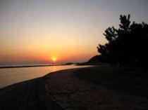 大漁丸から見える夕日