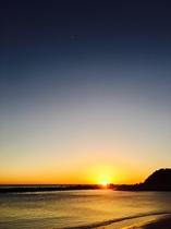 夕日と空のグラデーション