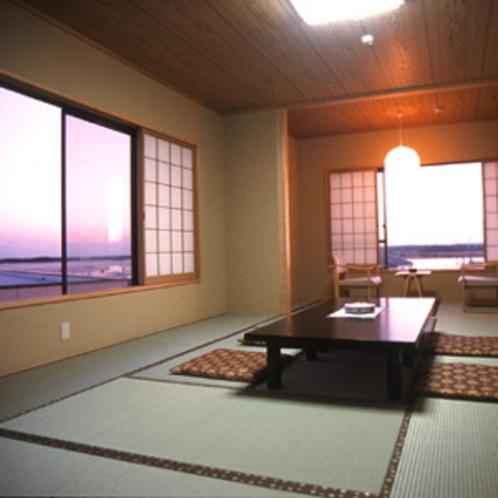 ★海を眺められるお部屋はまさに幻想的!