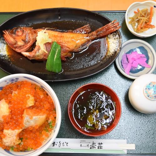 キンキ(煮)・刺身定食一例