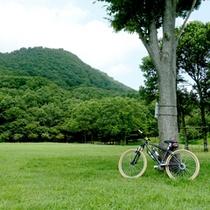 自転車で大自然をサイクリングするのもオススメです♪