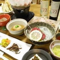 *【夕食/一例】尾瀬のワインもご用意しております。