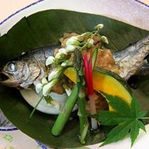 *ご夕食一例 焼き魚