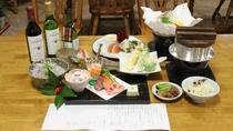 *【夕食/一例】地元の新鮮な食材をふんだんに使用した夕食