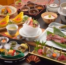 『伊豆会席』A5和牛の炙り寿司や地元の食材を使ったお料理を堪能(和牛等2名盛料理あり)