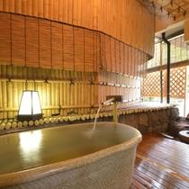 露天風呂付客室のお風呂