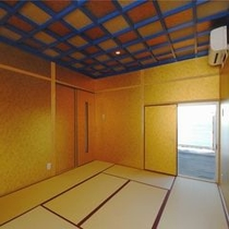 プレミアムオーシャンルームの和室からも水平線が見えます。