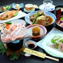 千葉県産ポークの熔岩焼き 料理全体