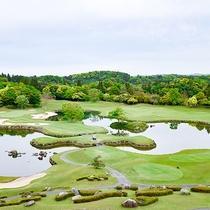 *ゴルフコース/グリーンが青々としたコースです。