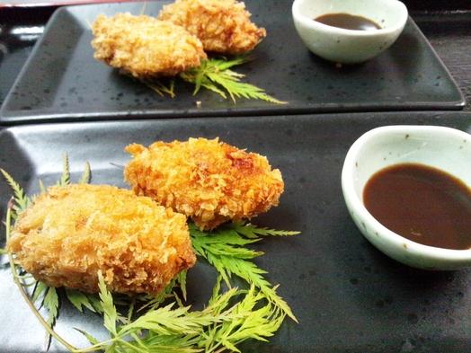『平日限定2食付』 もち豚ステーキ+揚げたて牡蠣フライ or    チキンカツ ※朝食無しに変更可