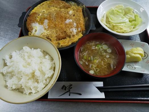 『現金特価』国産肉使用カツ煮定食 お米は、コシヒカリ 大盛無料 610円税込み(夕食のみ)