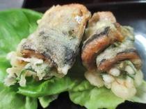 秋刀魚と大葉と梅の竜田揚げ