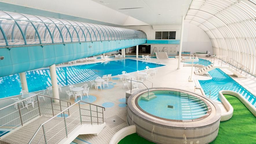 *【プール】広々とした屋内プール。25mプール,110mの流水プールがございます(GW・夏限定営業)