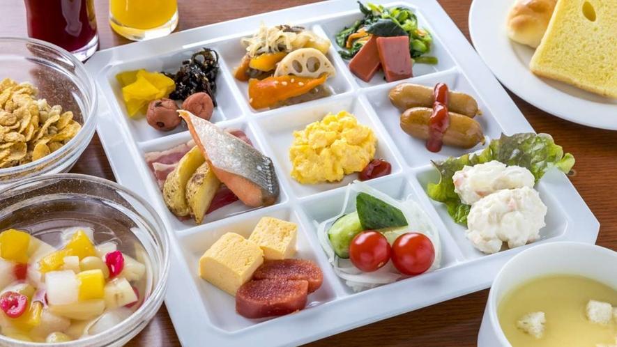*【朝食バイキング】和洋約50種のバイキングをご用意しております。(一例)