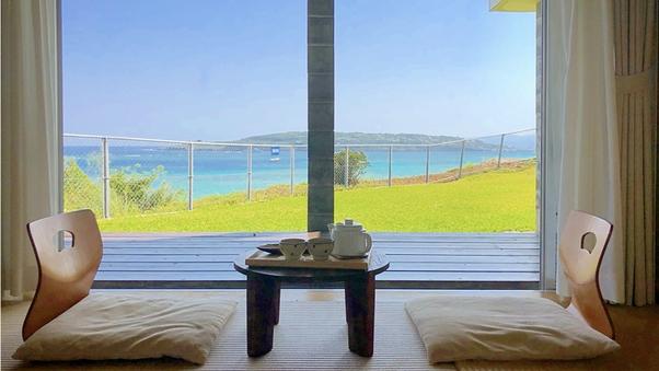 【和室】琉球ビーグの和室8畳とシャワールーム(浴槽なし)