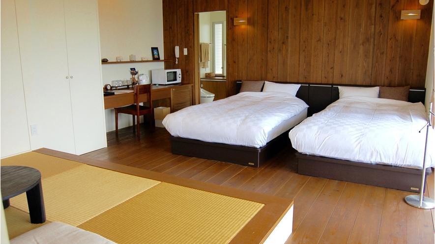 空ルーム(和洋室)のベッド側