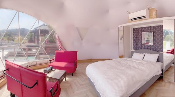 訳アリデイユース用ドームテント:室内28平米・デッキ80平米