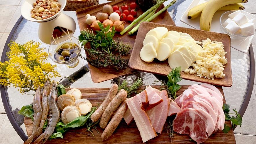 3種のチーズとワインのコース