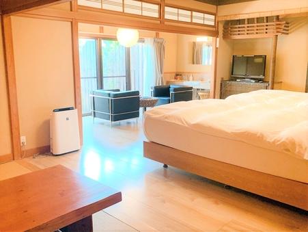 ベッド付き+温泉露天+箱庭 1階客室〜夕月105〜