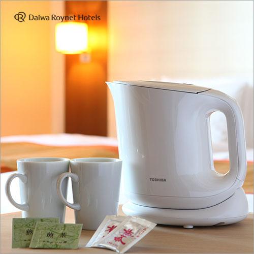 お部屋でコーヒーをお飲み頂ける電気ポット完備