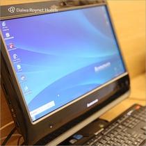 ロビーにはご自由にお使い頂けるパブリックパソコンございます
