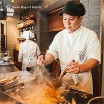 出来立てのたまご焼きや天ぷらをお召上がりください