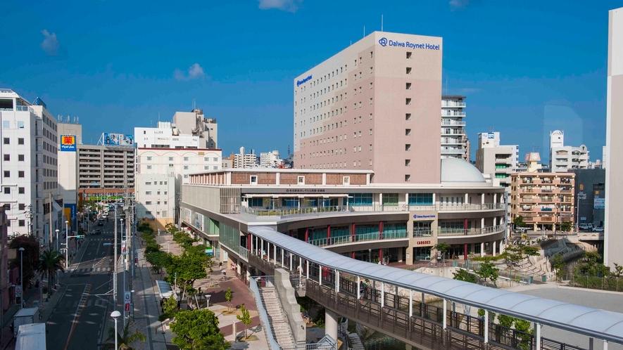 国際通り沿いのホテルです。