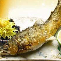 【夕食一例:2食付スタンダード】ふっくらジューシー!鮎の塩焼き。