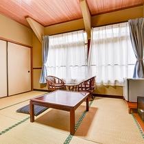 *【客室一例:おまかせ和室】6畳~8畳のお部屋をご予約人数に合わせてご用意させていただきます。