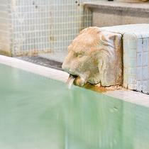 *【大浴場:あつ湯】ヌメリのある柔らかいお湯は美肌効果も抜群◎!