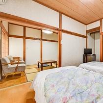 *【客室一例:和洋室】寝るときはやっぱりベッド派…そんな方にお薦めの和洋室タイプをご用意!