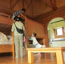 世界の山小屋ログハウス 部屋