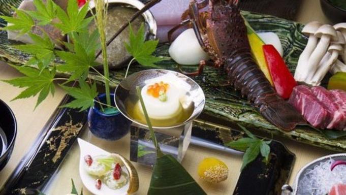 【京会席ディナー】食材の持つ本来の風味食感を楽しむ炭焼コース宿泊プラン